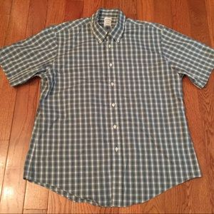 Non-iron slim fit check ss sport shirt